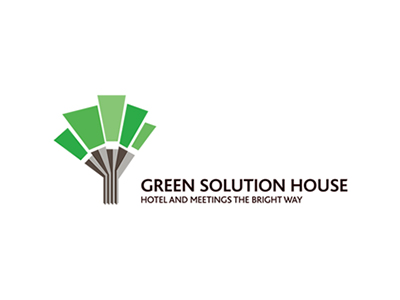 Logo gråt og grønt for firmaet Green Solution House